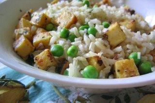 Receta de arroz con verduras y garbanzos