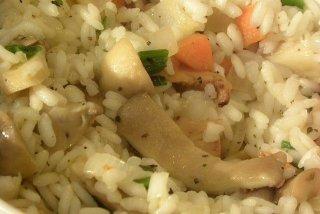 Receta de arroz cremoso con champiñones