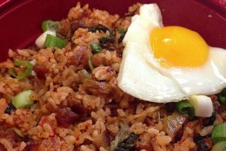 Receta de arroz frito con bacon