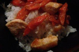 Receta de arroz frito con pollo