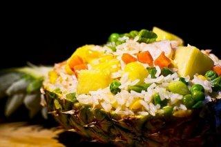 Receta de arroz frito hawai