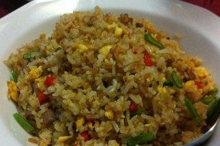 Receta de arroz frito vegetariano