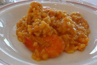 Receta de arroz meloso con gambas