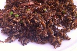 Receta de arroz negro con sepia y gambas