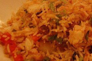 Receta de arroz salteado con guisantes y pimientos