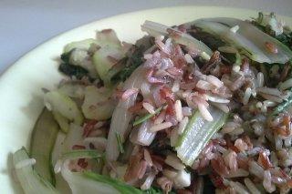 Receta de arroz salvaje con acelgas