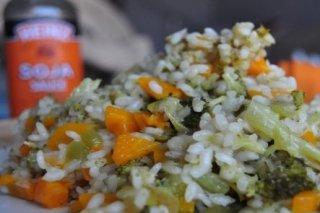Receta de arroz tres verduras