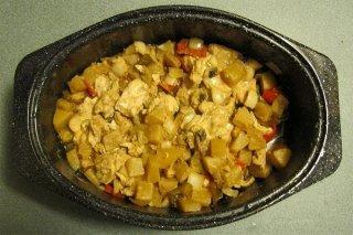 Receta de asado de carne con piña