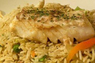 Receta de bacalao a la plancha con arroz