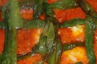 Receta de bacalao con patatas y pimientos