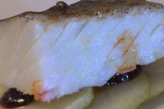 Receta de bacalao con sobrasada y miel