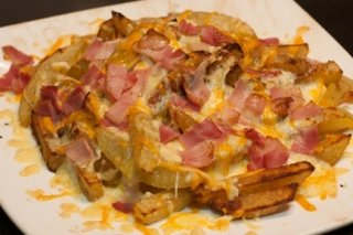 Receta de bacon & cheese fries