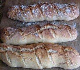 Receta de pan baguette con leche y miel