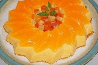 Receta de bavarois de naranja