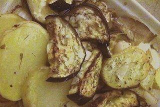 Receta de berenjenas al horno con patatas