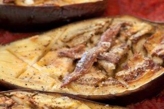 Receta de berenjenas asadas con anchoas