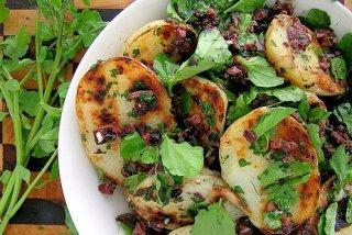 Receta de berros con patatas
