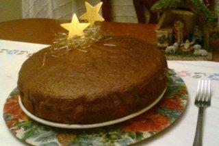 Receta de bizcocho con turrón de chocolate crujiente