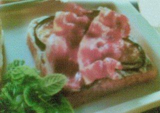 Receta de sandwich de berenjena con roquefort