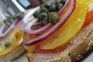 Receta de bocadillo de salmón ahumado