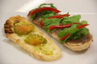 Receta de bocadillo de sardinas marinadas