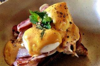 Receta de bocadito de huevo poché y bacon