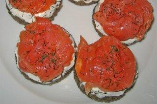 Receta de bocaditos de queso y salmón ahumado
