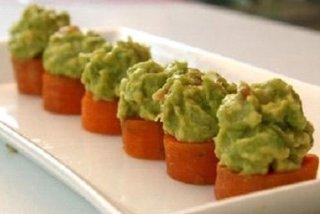 Receta de bocaditos de zanahoria y aguacate