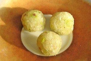 Receta de bolitas de coco y miel