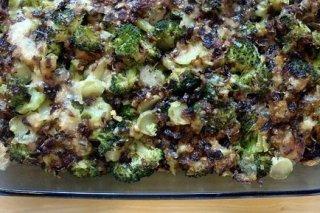 Receta de brócoli gratinado con jamón