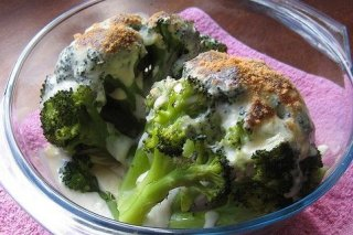 Receta de brócoli gratinado con queso
