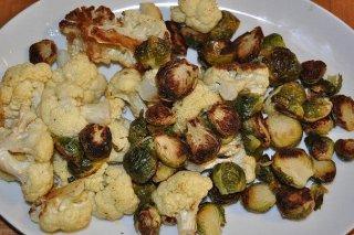 Receta de brócoli y coles asadas