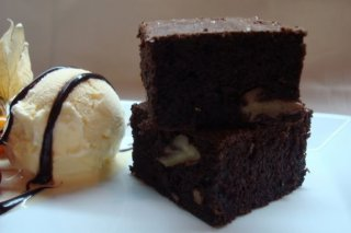 Receta de brownie de chocolate y nueces