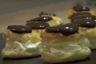 Receta de buñuelos de hojaldre con chocolate