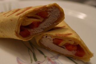 Receta de burrito de pollo y tomate