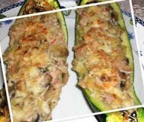 Receta de calabacines rellenos de champiñones
