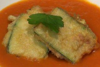Receta de calabacines rellenos de jamon y queso
