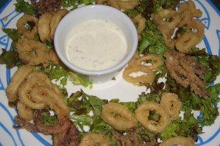 Receta de calamares fritos con crema agria