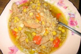 Receta de caldo de gallina criolla