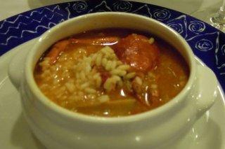 Receta de caldo de pollo con arroz