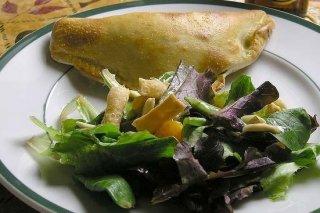 Receta de calzone de jamón, queso y huevo cocido