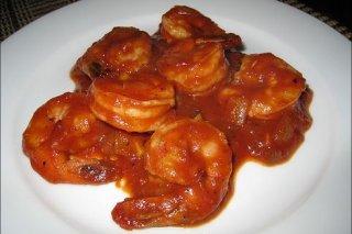 Receta de camarones ardientes con queso