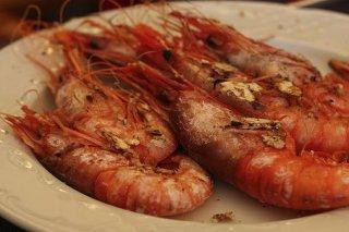 Receta de camarones con salsa de soja