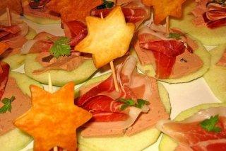 Receta de canapés de manzana