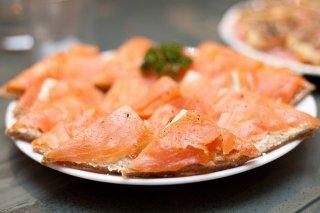 Receta de canapes de salmón