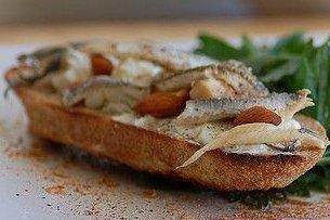 Receta de canapés de sardina