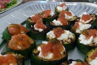 Receta de canapés vegetarianos de calabacín