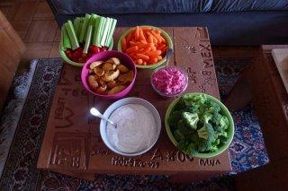 Receta de canapés vegetales