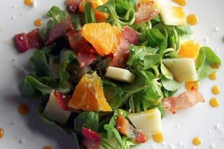 Receta de canónigos a la salsa de naranja y mostaza