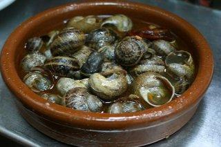 Receta de caracoles a la madrileña
